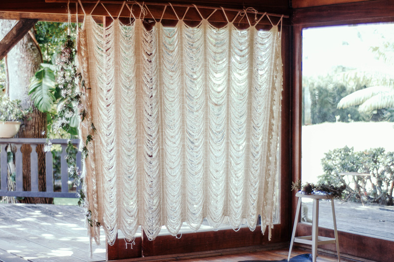 Boho Woven Cotton Curtain | Custom Size