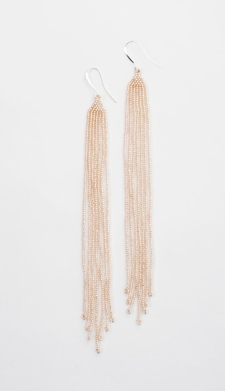 Lahmu Handmade Beaded Earrings in Rosaline