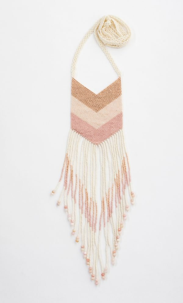 Nakawé Fringe Handmade Necklace in Rose Gold