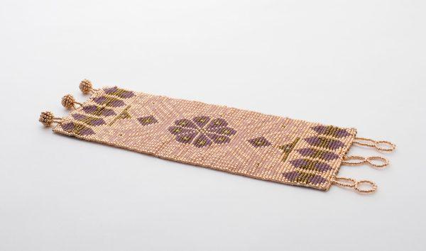 Peyote Handmade Beaded Bracelet | Blush + Rose Gold