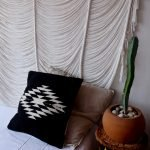 Zapotec Diamond Handmade Cushion | Black-