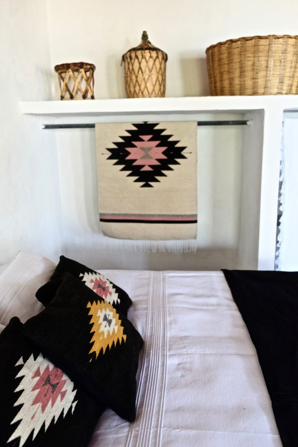 Zapotec Diamond Handwoven Mexican Rug | Desert Rose