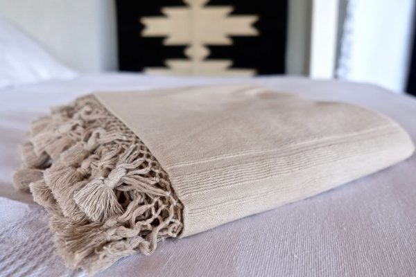 Handwoven Mexican Blanket | Taupe