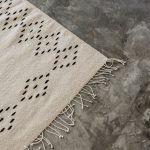 Lluvia Handwoven Mexican Rug | Natural + Noir - Nakawe Trading