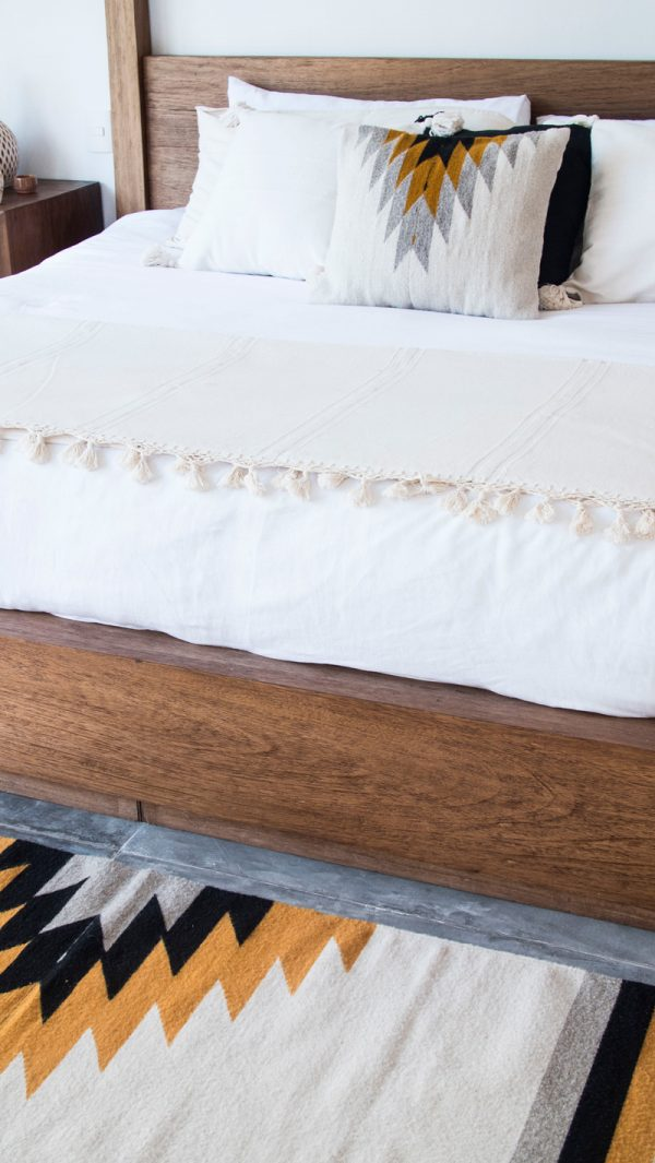 Relampago Mexican Cushion | Natural + Ochre