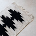mexican rug black and white