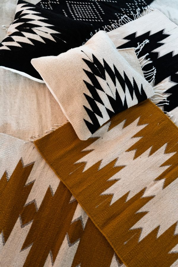 Maguey Handwoven Mexican Rug | Ochre + Natural -