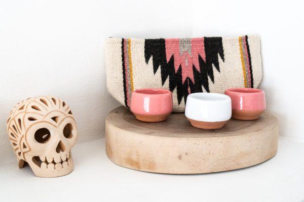 Handmade Mexican Bag | Natural + Desert Rose