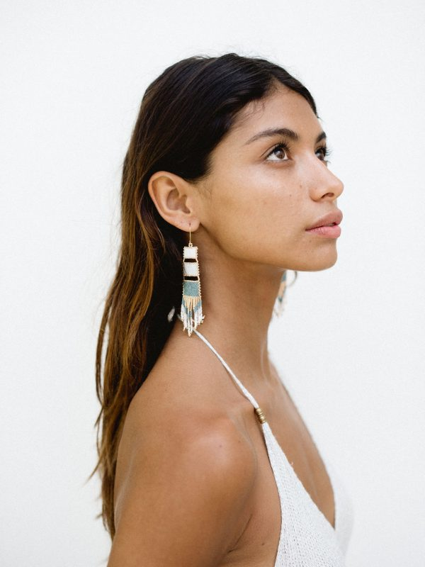 Nakawe Fringe Beaded Boho Earrings (1)