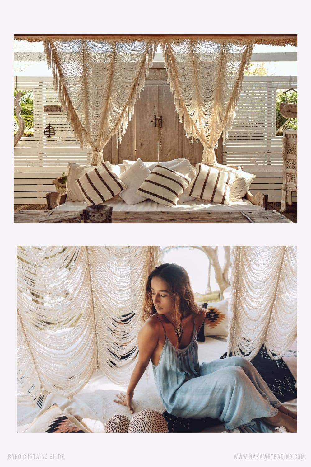 boho curtain ideas and hanging style (4)