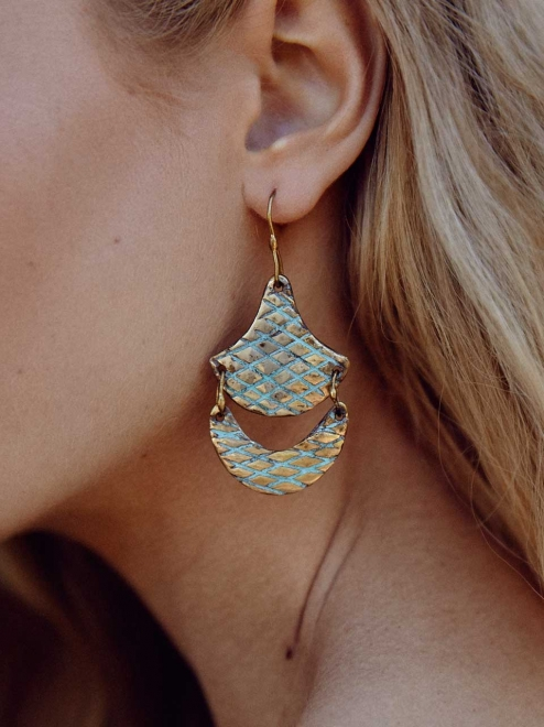 TLALLI patterned earrings