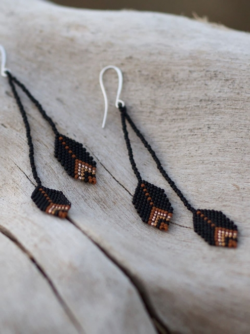 Sierra earrings in terra-cotta
