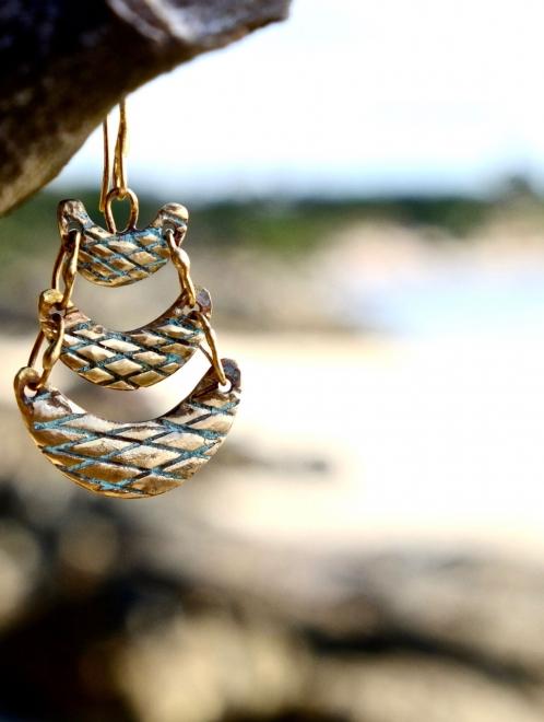 Tanok pattered earrings