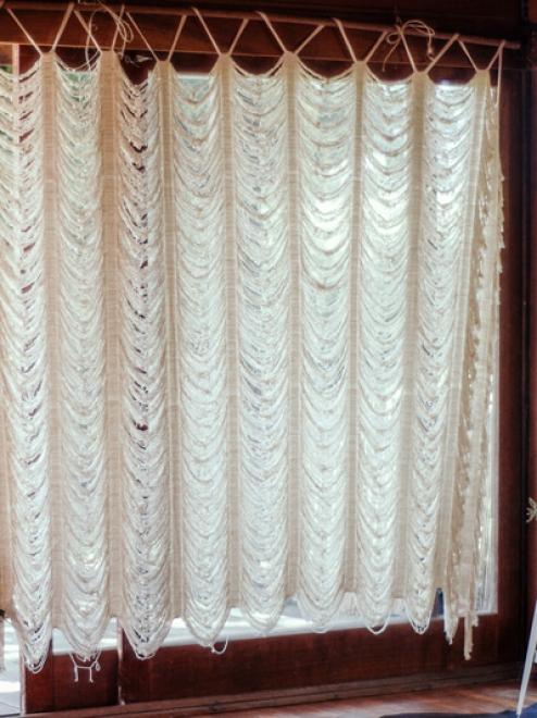 Boho Woven Cotton Curtain | Custom Size
