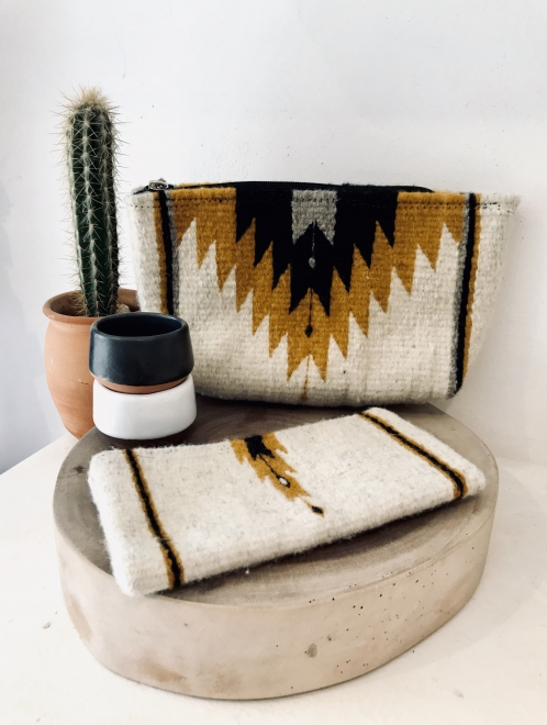 Zapotec diamond clutch in ochre