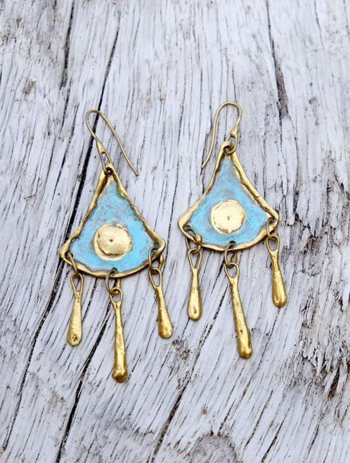 Atl Handmade Bronze Earrings