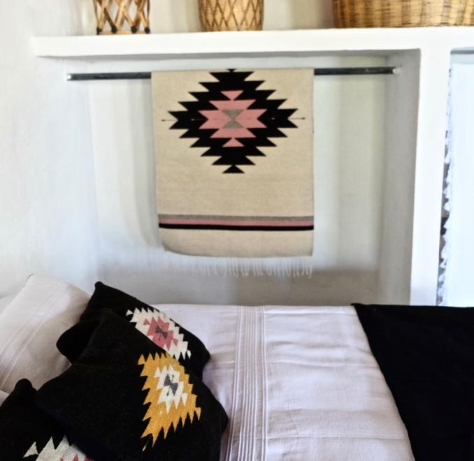 Zapotec Diamond cushion   Noir + Ochre