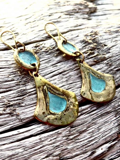 Ical Handmade Bronze Earrings