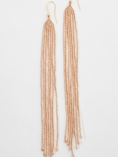 Lahmu beaded earrings in rose gold