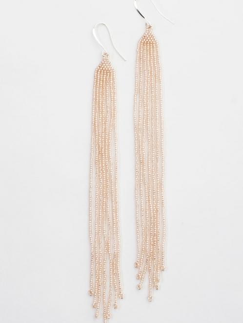 Lahmu beaded earrings in rosaline