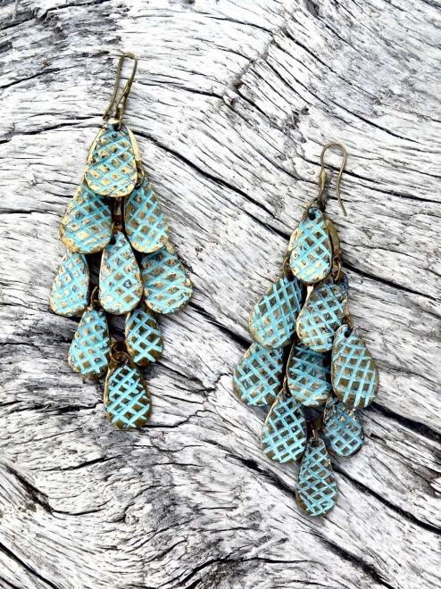 Nakawé patterned rain earrings