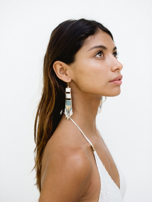 Nakawe Fringe Beaded Boho Earrings