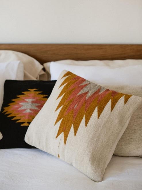 Relampago Cushion | Ochre + Desert Rose