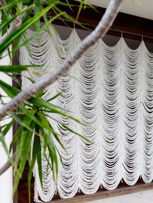 Boho Macrame Curtain | Custom Size