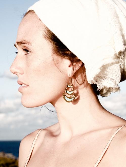 Tanok Handmade Bronze Earrings | Patina