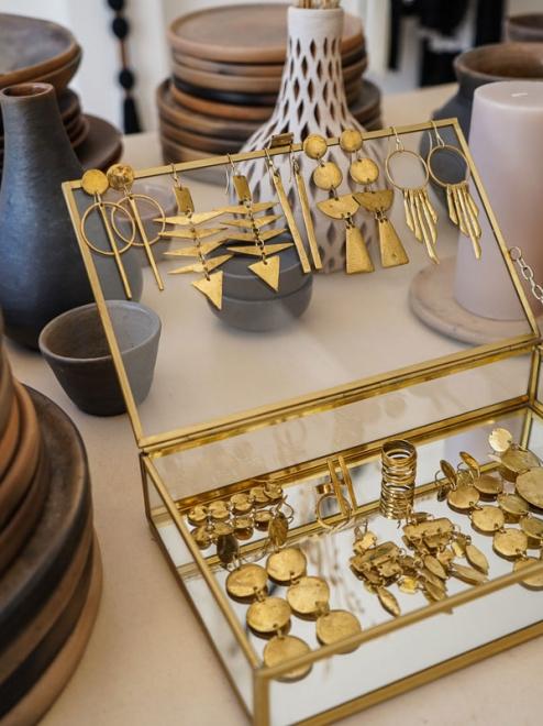 Bebe Luna Bronze Earrings