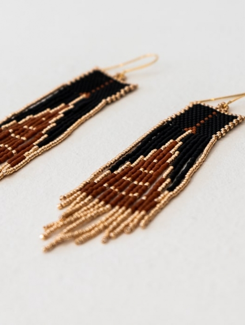 Pyramid of the Sun Boho Earrings