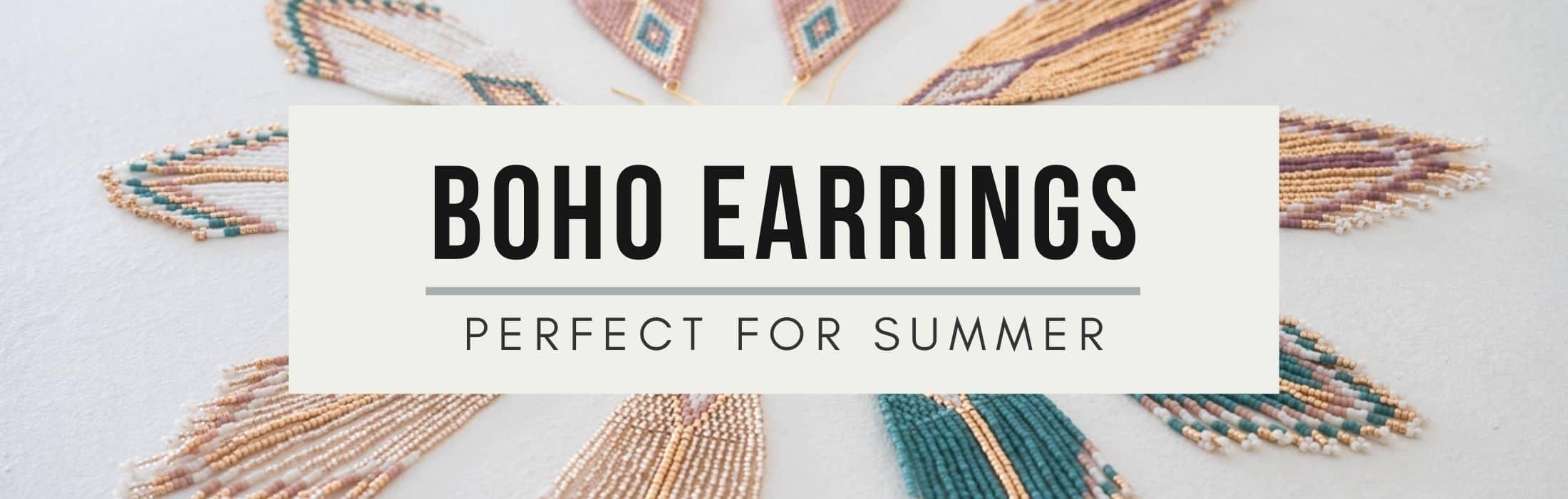 Boho Beaded Earrings for Summer