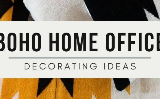 Boho Minimalist Home Office Decorating Ideas