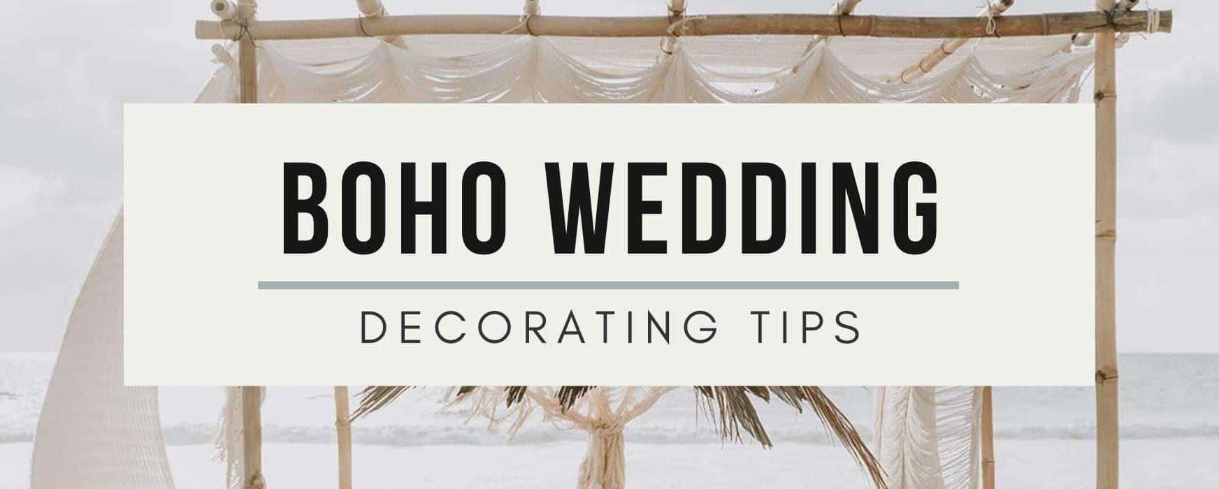 Boho Minimalist Wedding: Decorating Tips