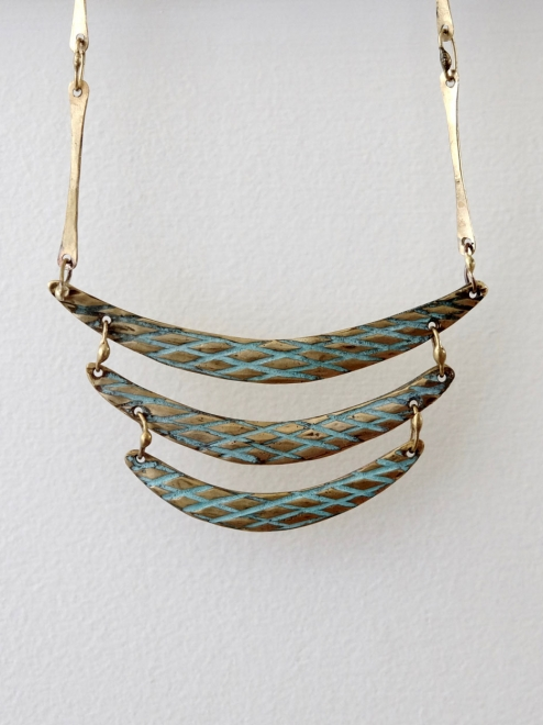 Tlalli Handmade Bronze Necklace | Patina Finish