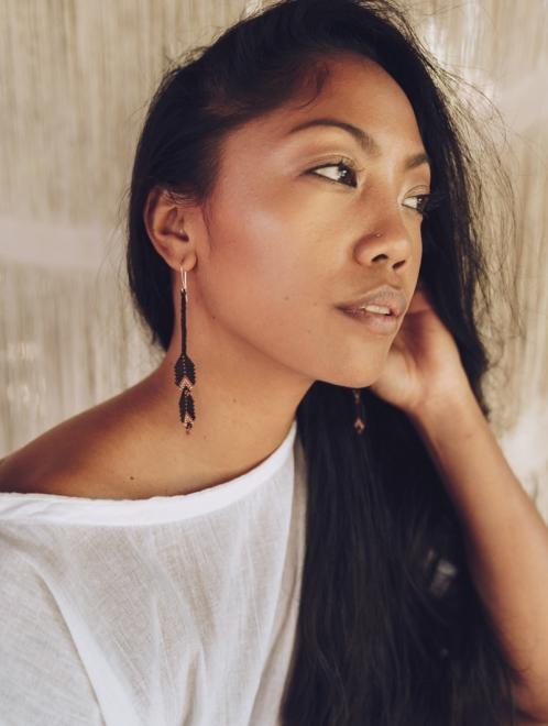 Sierra earrings in terra-cotta