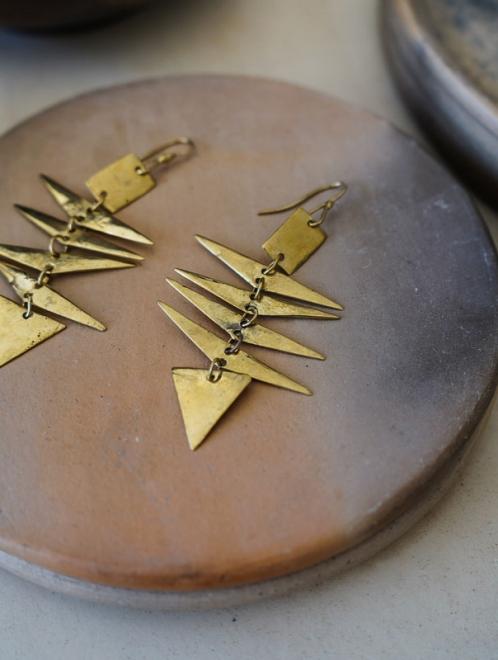 Itza Bronze Earrings Artisan Made