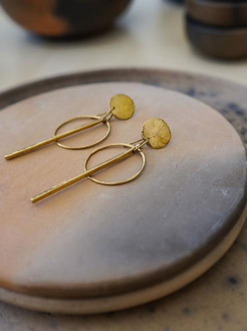 Itzel Bronze Earrings