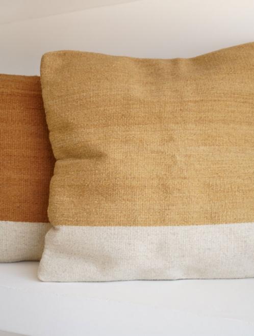 Itzel Handmade Mexican Pillow |  Gold