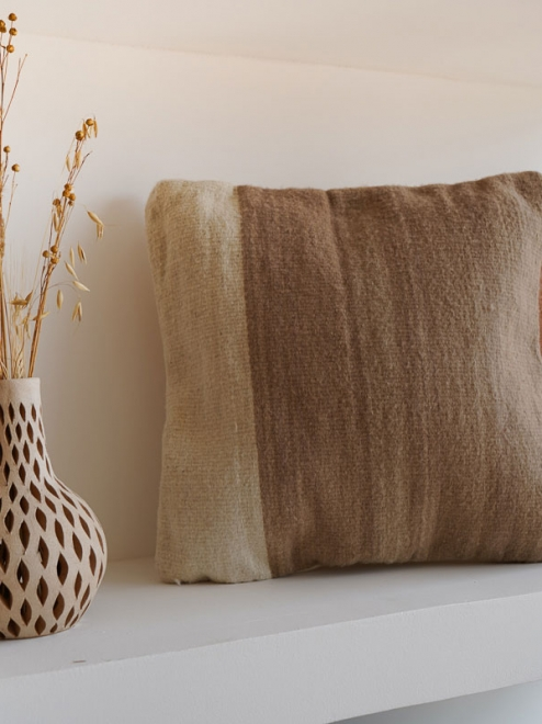 Itzel Handmade Mexican Pillow | Taupe