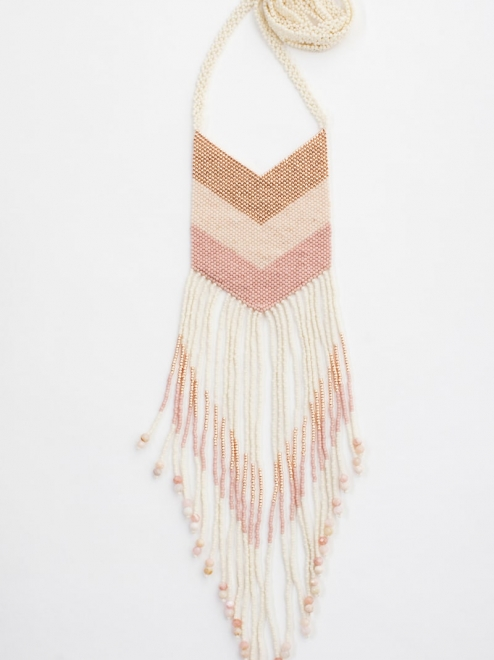 Nakawé Fringe necklace in rose gold