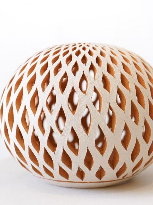 White Clay Lantern Sphere | Large