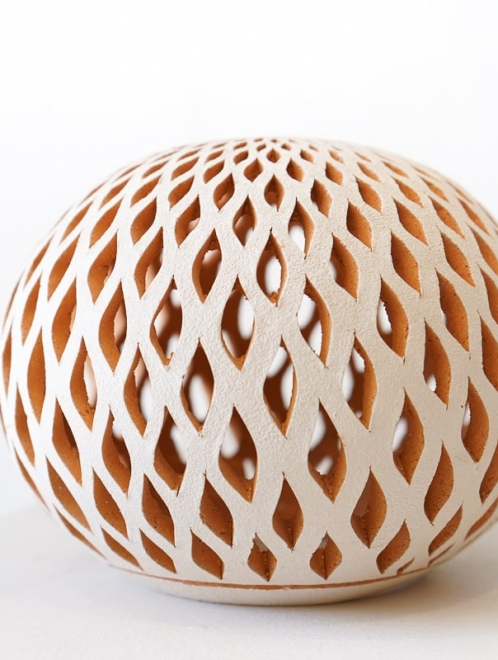 White Clay Lantern Sphere | Large