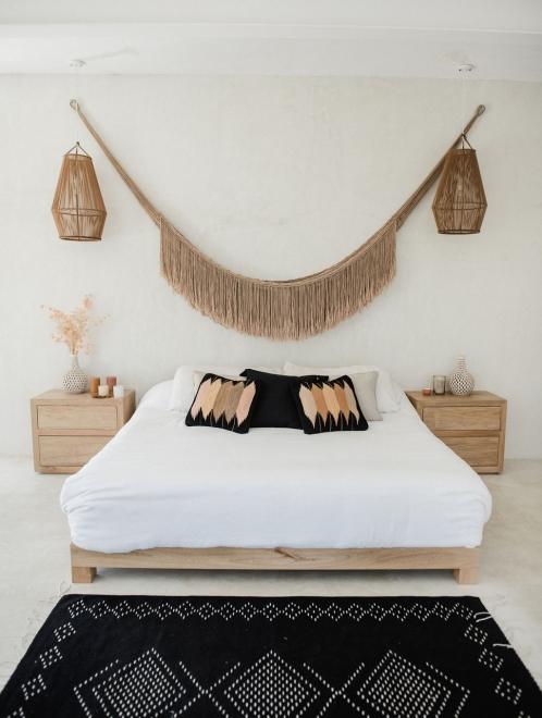 Tierra Mexican Woven Lumbar Pillow | Black Base
