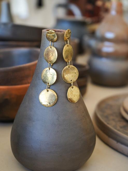 Moon Bronze Earrings