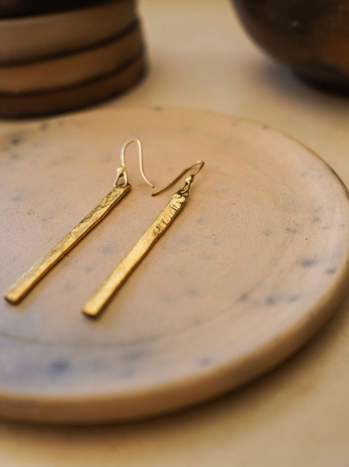Orion Bronze Earrings Handmade by Mexican Artisans