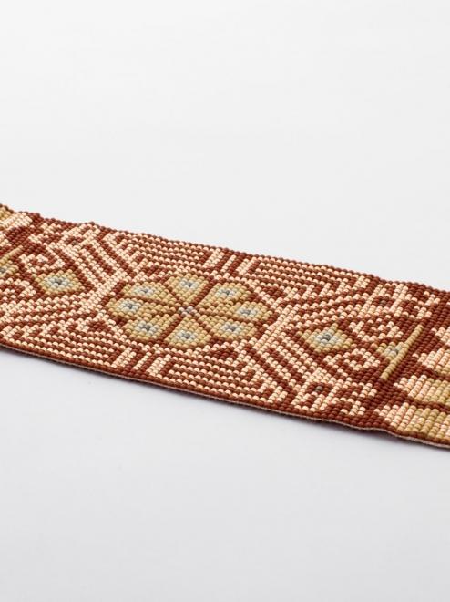 Peyote Handmade Beaded Bracelet   Rust + Rose gold