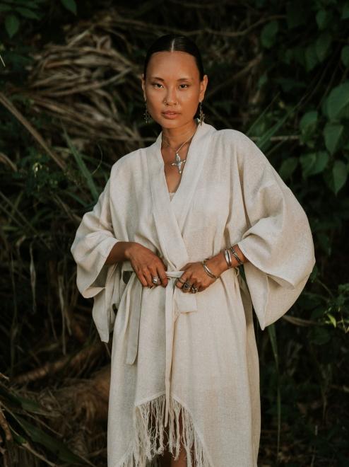 Raw Silk Kimono