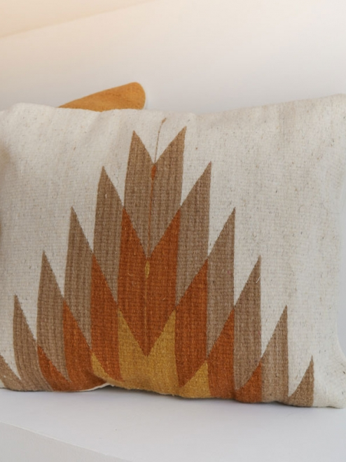 Relampago Mexican Pillow | Natural With Clay Tones