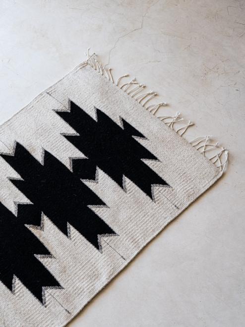 Maguey Handwoven Mexican Rug | Natural + Noir